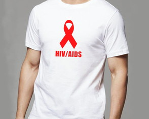 Camiseta HIV aids