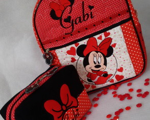 kit escolar infantil Minnie