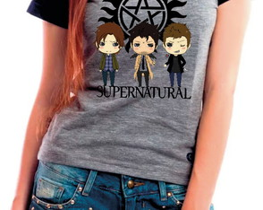 Camiseta Baby Look Supernatural Serie Sobrenatural