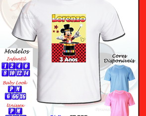 Camiseta Personalizada Circo do Mickey Mouse