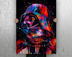 Quadro Poster MDF Gigante, Star Wars Color Darth Vader
