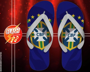 Chinelo personalizado - Copa do Mundo
