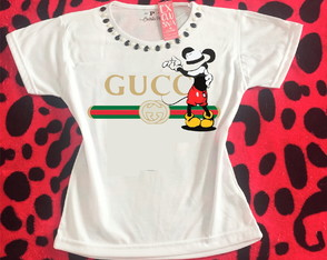 Baby look Customizada - G u c c i - Mickey