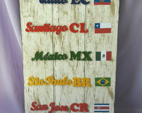 Placa decorativa MDF
