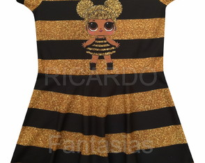 Vestido Infantil Lol Surprise (Queen Bee)