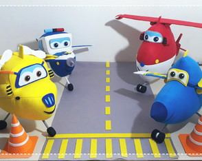 "Avião ""Super Wings"""