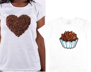 Camisa dia das maes. Chocolate lovers