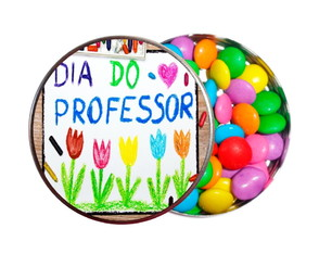 Kit 30 Latinhas Festa Feliz Dia do Professor!