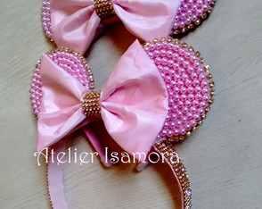 Kit de tiaras Minnie rosa