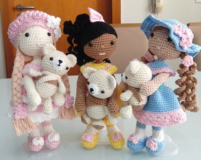 Boneca De Croche Amigrumi Kit As Tres Marias + Ursos