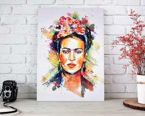 Placa decorativa Frida - Aquarela