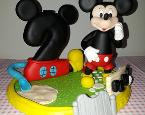 Vela decorada do Mickey Mouse