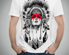 Camiseta Ou Baby Look Indio Nativo Americano India Lobo