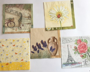 Kit com 5 guardanapos p/ decoupage - cód kit 23