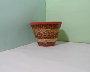 Vaso Parede Decorado com Sisal