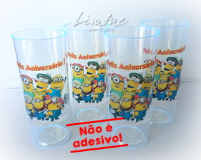 COPO LONG DRINK NEON MINIONS