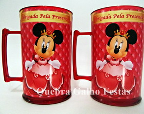 Caneca Minnie Princesa Personalizada 400Ml Colorida