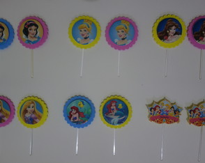 TOPPERS/TAGS DAS PRINCESAS DA DISNEY EM 3D.