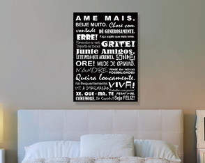 Placa Decorativa 40x30cm - Ame Mais!