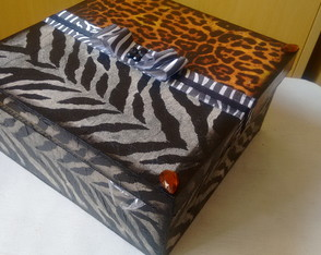 Caixa Animal Print - Porta joias