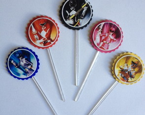 Toppers para doce: Power Rangers