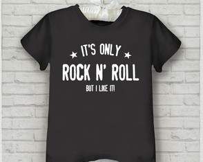 Camiseta Rock infantil It's only rock n' roll