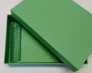 Mini album com caixa Verde