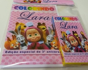 Mini kit de colorir - Marcha e urso