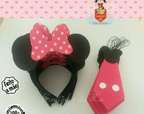 Kit tiara minnie e gravata mickey