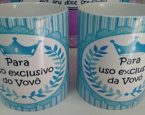 Duo de canecas exclusivo da vovó e do vovô