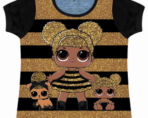 Baby look Infantil Lol (Queen Bee)