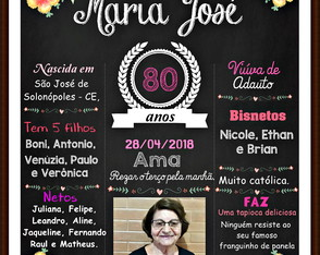Chalkboard 80 anos- Flores