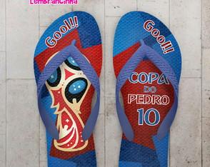 20d6d23850e90 Chinelo Copa do Mundo - Coleção de Santa Lembrancinha ...