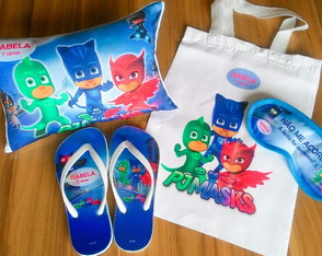 kit festa do pijama PJ Masks (qualquer tema)