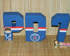 Letras 3D Paris Saint Germain PSG