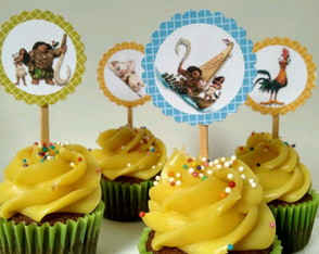 Topper mini cupcake Moana