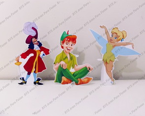 3 Displays de mesa - Tinker bell e Peter Pan