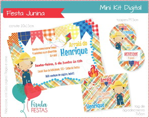 Mini Kit Digital Festa Junina