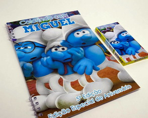 Kit de Colorir Smurfs