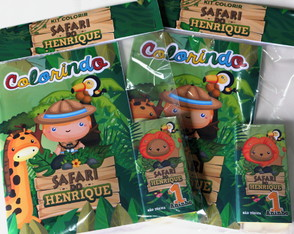 Kit Colorir Safari - Kit Colorindo Safari