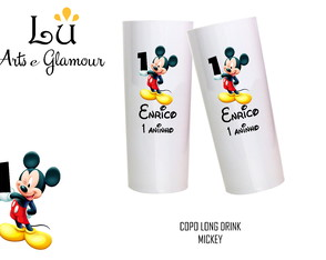 80 COPO LONG DRINK BRANCO - MICKEY