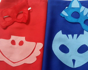 Kit capa + máscara PJ MASKS