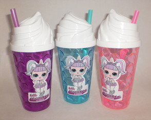 Copo Chantilly Canudo de 500ml Boneca L.O.L. Surprise