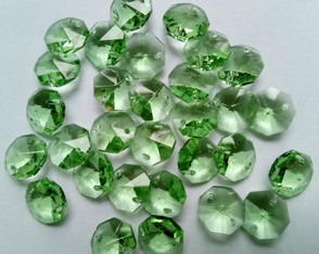 Castanha Cristal Italiana 14 mm Cor Verde - 500 ps