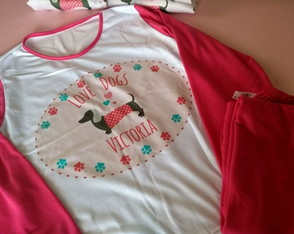 PIjama Longo Love Dogs