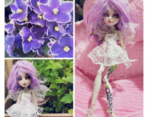 OOAK Boneca Violeta Monster High