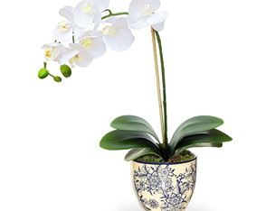 Arranjo de flor artificial orquidea