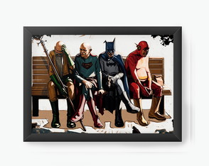 Quadro Decorativo Flash, Batman, cod150