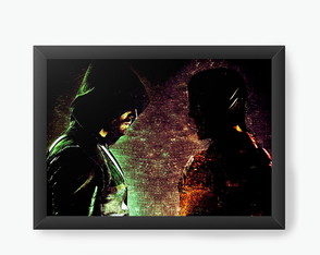 Quadro Decorativo Flash e Arrow cod244