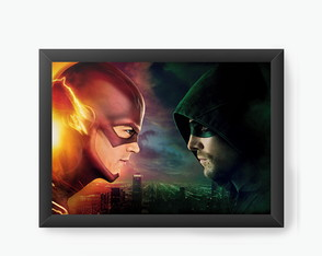 Quadro Decorativo Flash e Arrow cod242